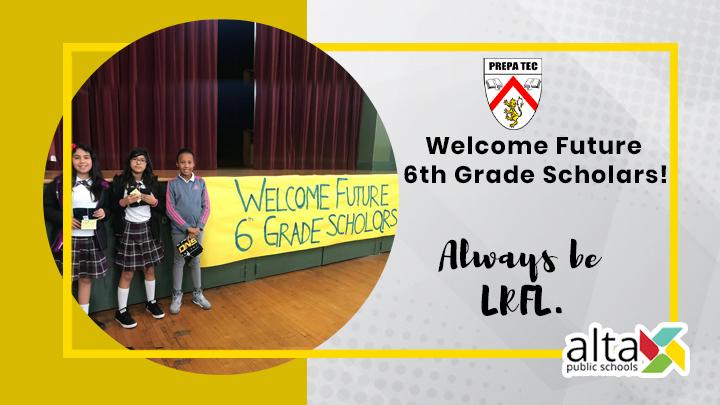 Welcome Future 6th Grade Scholars