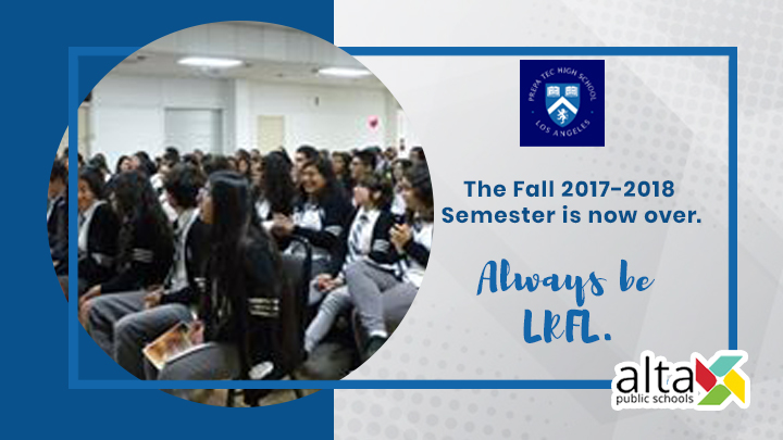 The Fall 2017-18 semester is now over